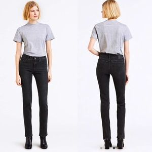 Levi's 712 Slim Vintage Black Wash Jeans Sz 28